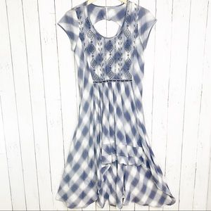 {Free People} Rad for Plaid High Low Dress